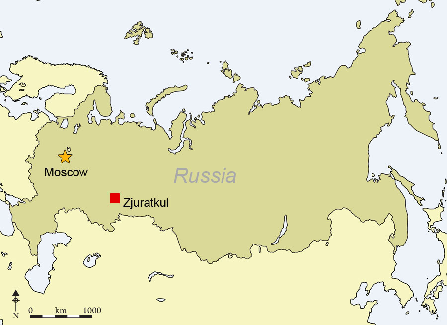 Antiquity Journal - Ural river on world map
