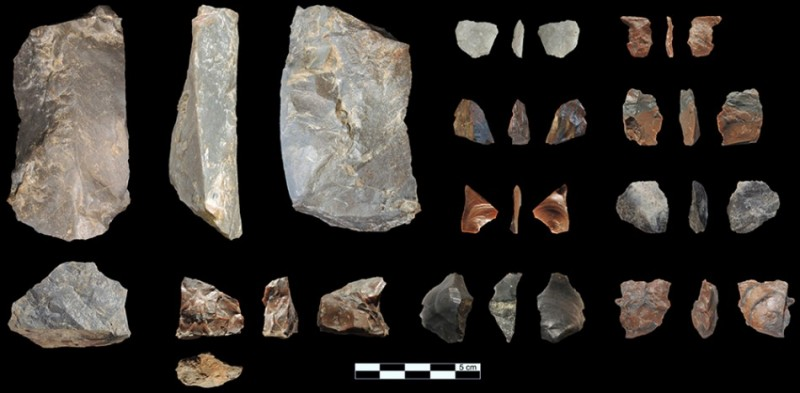 Figure 6. Lithic artefacts from the 2013 field season.