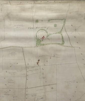 Figure 4. Wandlebury, as shown on the Stapleford Inclosure map, 1812 (Cambridge University Library MS Plans R.6.7; © the Syndics of Cambridge University Library).