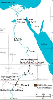 Figure 1. Egypt and Nubia during the early second millennium BC.