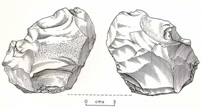 Figure 6. Zygi biface (drawing by L. Copeland).