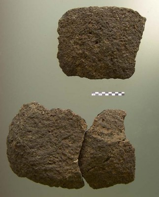 Figure 5. Sherds made of clay mixed with plant fibres.