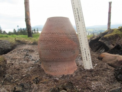 Figure 3. The morning after … a complete pot fired in one of the cremation pyres during our 2014 event; the pot was made by Graham Taylor (photograph: Kenneth Brophy).