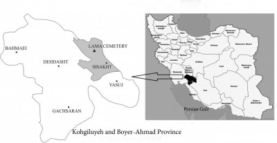 Figure 1. Map showing the location of Lama Cemetery in Iran.