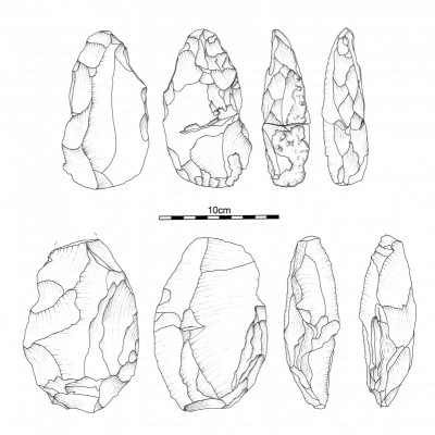 Figure 5. Selection of handaxes from site Al Jamrab.