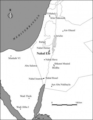 Figure 1. Location of the site within the southern Levant and other PPNB sites.