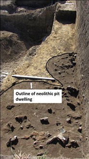 Figure 2. At II level 7 showing a pit dwelling, northern view.