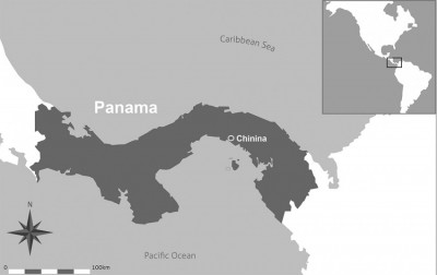 Figure 1. Map of Panamá and Chinina's location.