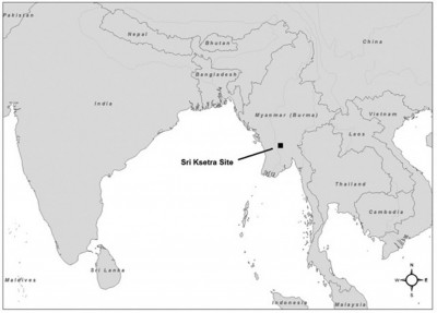 Figure 1. Location of Sri Ksetra; © Gabriel Amable.