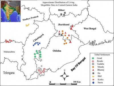 Figure 1. Distribution map of megalithic sites.